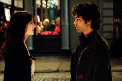 Andy's (Anne Hathaway) transformation into an über-efficeint fashionista does not please her boyfriend Nate (Adrian Grenier).