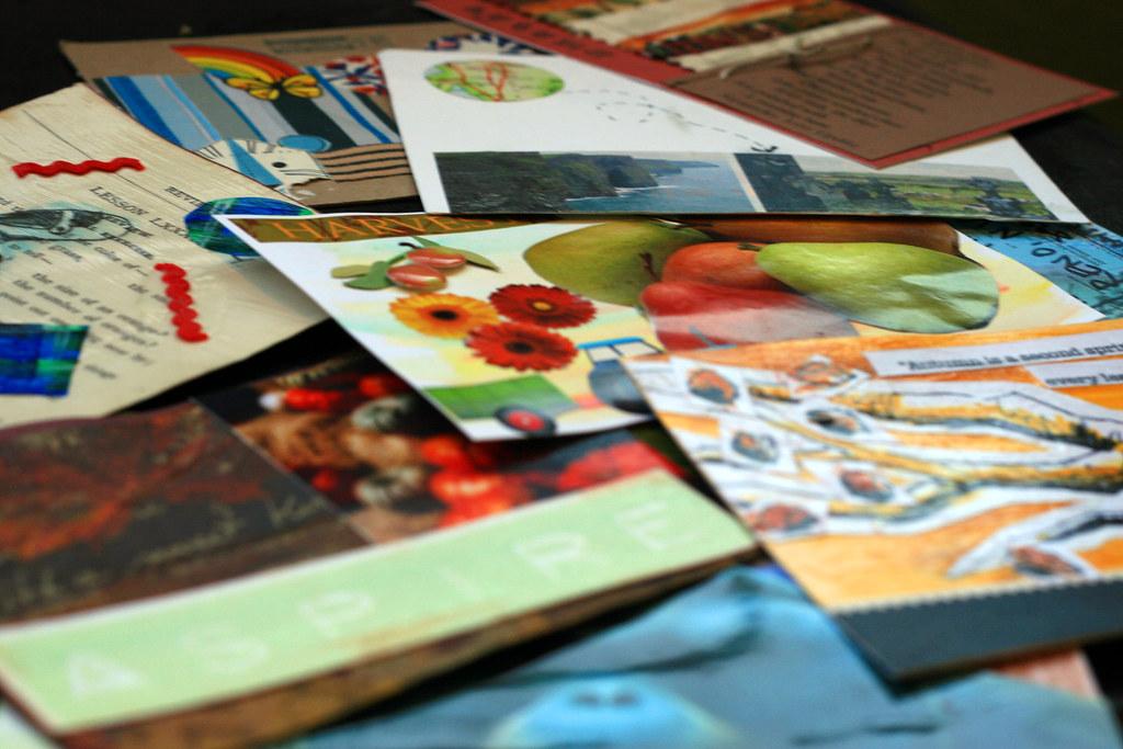 autumn post card swap
