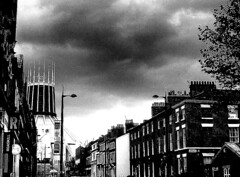 hope street and metropolitan cathedral - liverpool - england (~ paddypix ~) Tags: blackandwhite liverpool photoshop buildings churches picasa oldcity moodyblues bwdreams ukandireland iusedpicasa urbanside