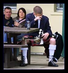 Cry Baby (FotoFling Scotland) Tags: man male beer up fashion table freedom scotland tears kilt dress emotion pipes scottish hose lad bagpipes cry tartan highlandgames pitlochry bagpipe kilted sporran scotsman kiltie fav10 freeballing kiltlad kiltedscotsman kiltedman tartankilt andaralogringo andarstrike