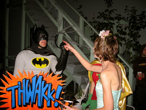 Telling Batman what's what.
