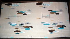 Eames fabric - bottom of display case