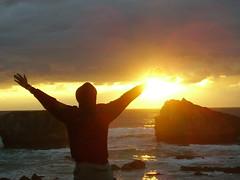freedom rail (GriffinPeter) Tags: sun france tramonto nuvole mare mani sole riflessi francia biarritz controluce onde scogli orizzonte