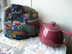 tea pot and tea cosy