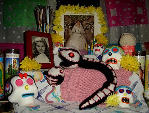 Snake & Mouse Dia De Los Muertos Altar