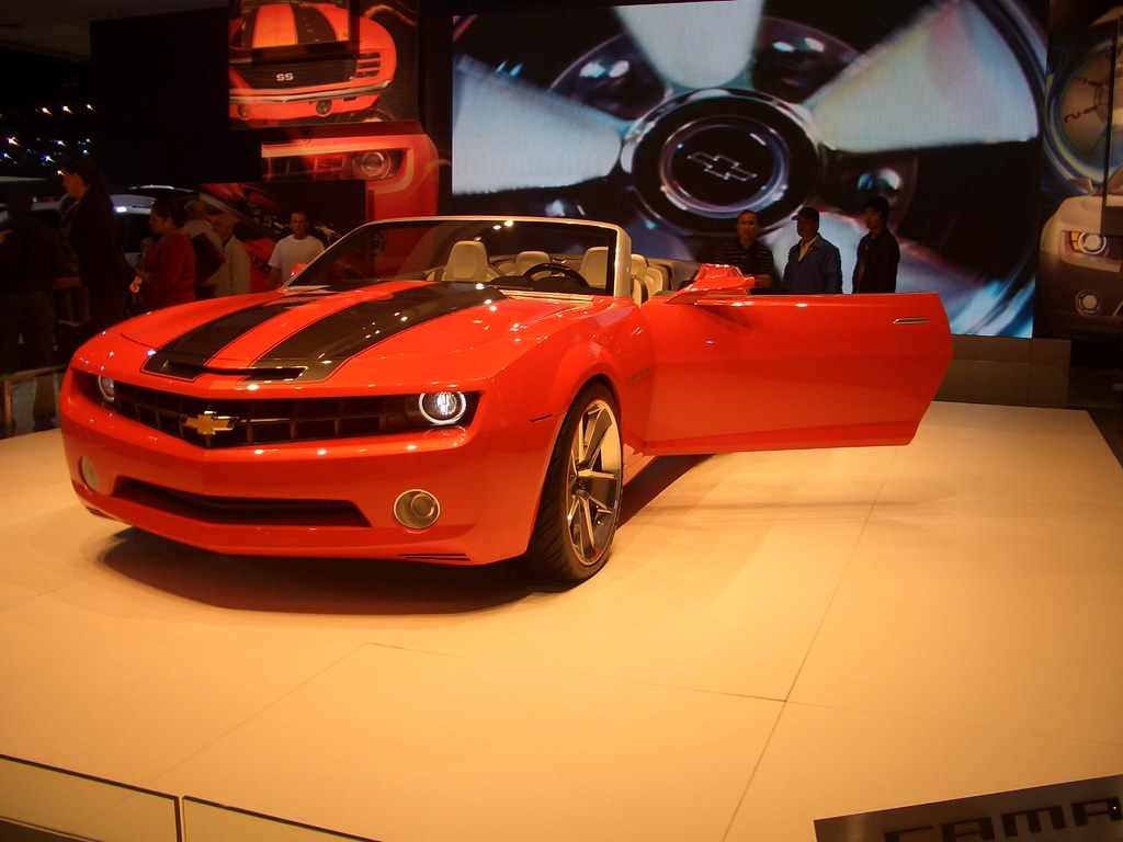 Cool Fast Chevy Camaro SS a.k.a. Bumble Bee in The Transformers: Movie @L.A. Auto Show