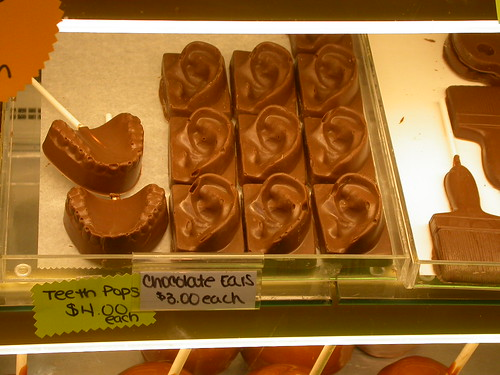 Chocolate ears, Teeth pops