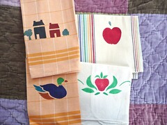 Stenciled Towels