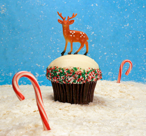 Trophy Cupcake Holiday Cupcake with Reindeer
