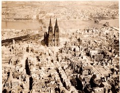 """The Dom Cathedral (Klner Dom) in Cologne, Germany WWII, May 10th, 1945.  """"Trolley Missions""""...Klner Dom in Kln, Deutschland WWII, 10. Mai 1945. """"Trolley-Missionen"""" (David C. Foster) Tags: pictures uk bridge england germany deutschland photo cathedral pics dom wwii picture cologne kln photographs photograph liberator koln aerialphotography 8th bombing pauldavis eto b24 rhineriver klnerdom worldwartwo seething armyaircorps veday hohenzollernbrcke armyairforce mightyeighth b24liberator 715th larry"""