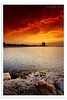 Another Shuwaikh Sunset (Hussain Shah.) Tags: city sunset sea sky d50 nikon rocks sigma burning kuwait 1020mm tobacco shuwaikh cokin