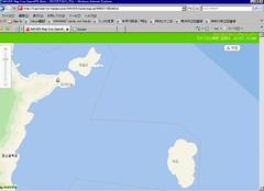20071223 Naver Mapで鬱陵島の北東部を見てみる。