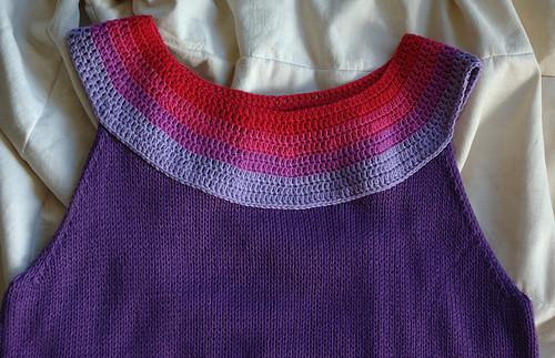 Top violet - détail