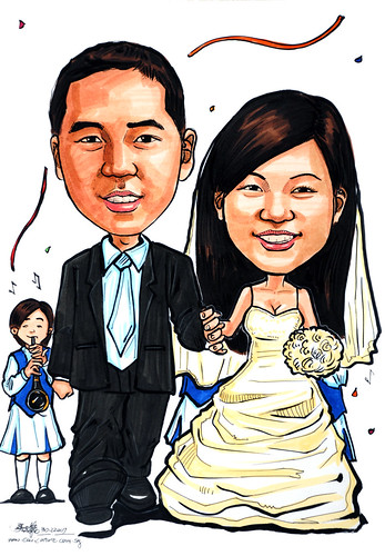 Caricatures couple wedding 311207