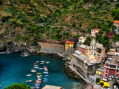 Vernazza (klausthebest) Tags: sea italy panorama seascape beach church water boat vineyard bravo italia mare liguria hill chiesa cinqueterre vernazza picturesque acqua spiaggia collina italians vigneto wonderworld blueribbonwinner supershot magicdonkey golddragon ultimateshot holidaysvacanzeurlaub superbmasterpiece diamondclassphotographer ysplix theunforgettablepictures brillianteyejewel theperfectphotographer goldstaraward