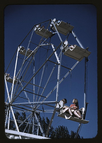 On the ferris wheel at the Vermont state fair, Rutland.  Sept 1941