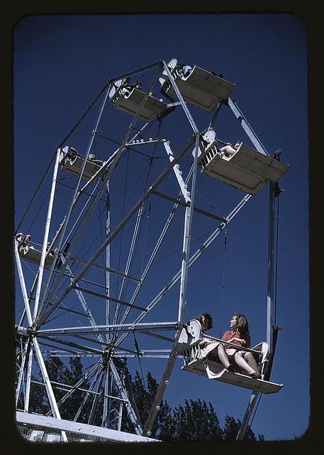 On the ferris wheel at the Vermont state fair, Rutland (LOC)