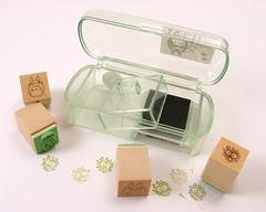 Totoro mini stamp set (blueorca) Tags: anime macro other totoro lighttent rubberstamps photofaceoffwinner inkset pfogold