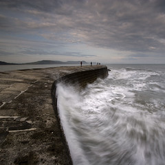 The Cobb (Adam Clutterbuck) Tags: ocean uk greatbritain sea england seascape colour pier waves unitedkingdom britain quay dorset gb surge oe lymeregis breakwater thecobb greengage lymebay shorescapes adamclutterbuck showinrecentset openedition