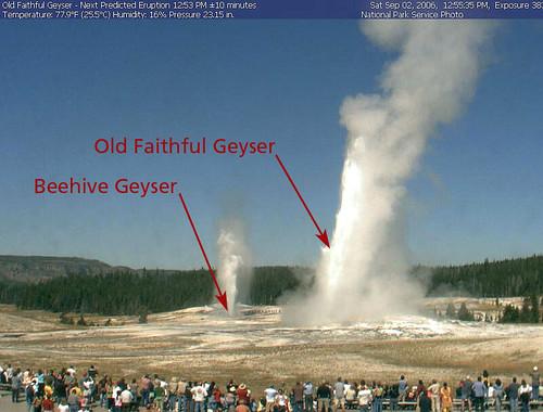 Old Faithful en Yellowstone