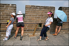 The Great Wall tourists - Badaling China (Maciej Dakowicz) Tags: china travel people woman tourism asia crowd beijing landmark tourist unesco greatwall badaling fds24h