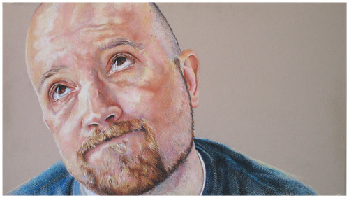 Colored pencil drawing entitled Self Portrait IV