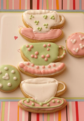 teacup & saucer cookies (nikkicookiebaker) Tags: cookies decorated