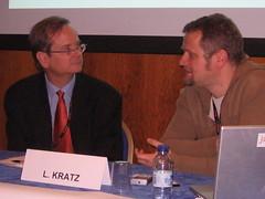 Lessig pendant la conférence de presse Jamendo au MIDEM