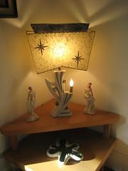 Coolest.  Lamp.  Ever. (sparkleneely) Tags: love lamp vintage shopping march retro 1950s fiberglass 2008 starburst vintagelamp estatesales recentfinds 1950slamp