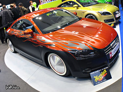 Custom paintjob Audi TT with moon disk! (WillVision Photography) Tags: hotrod pts auditt custompaintjob moondisk paristuningracingshow2008 ptrs2008