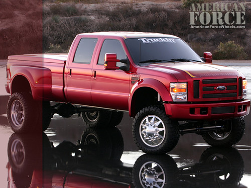ford truck wallpaper. Big Burgundy Ford Truck,
