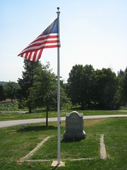 John Burns Grave in Evergreen Cemetery - Gettysburg, PA (smokejmt) Tags: history cemetery grave graveyard memorial pennsylvania headstone headstones graves historic gettysburg civilwar battlefield cemeteryridge johnburns