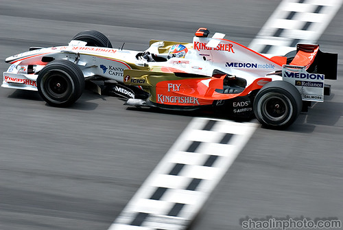 Adrian Sutil for Force India F1 Team - Malaysia GP 2008