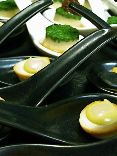 quail egg, miso mustard