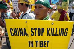 China, stop killing in Tibet - (DPA-Photo) (A-C-K) Tags: china spiegel beijing 2008 peking dpa