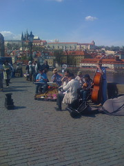 Jazz band on The Charles Bridge Prague (Malá Strana, Hlavní Mesto Praha, Czech Republic) Photo