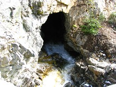 Creek emerging from tunnel - Watch for falling rock!!!!