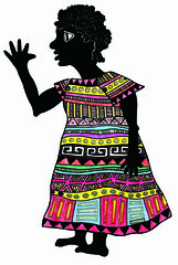 mujer negra de perfil 2