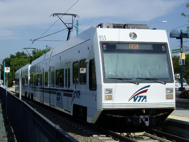VTA Light Rail at Mountain View Sta.