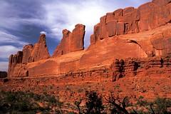 Park Avenue (vix227) Tags: sky mountains slr clouds canon utah rocks moab canonrebel canonxt archesnationalpark parkavenue rockformation beautifulcapture worthalonglook