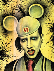 Marilyn Manson -2- (Ben Heine) Tags: wallpaper music usa man black art hat smart rock ink dark watercolor painting paper print poster logo fun scary punk child expo image contemporaryart marilynmonroe aquarelle fineart traditionalart band makeup evil tie disney romance american badge metalmusic singer mickeymouse lipstick copyrights outrageous musique shocking marilynmanson fearless blackink antichrist plume charlesmanson pointillism provocative resident anticapitalism crazyness postmodernity provocation graphicartist mobscene androgyn beatthedevil bowlingforcolumbine grammyaward bretelle pennib benheine mixedstyles anticonformism antechrist mansinthe brianhughwarner industrialmetalband flickrunited infotheartisterycom fullbiography