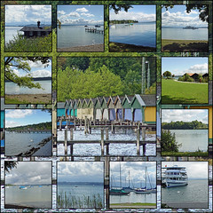 Collage Am Starnberger See (RiesenFotos) Tags: lake collage clouds bayern bavaria see mosaic wolken starnberg starnbergersee riesenfotos