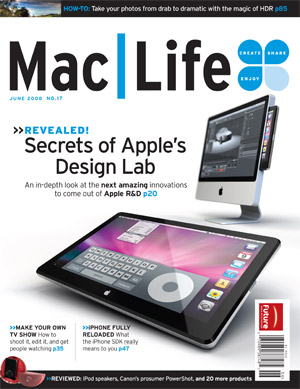 Mac-Life magazine cover showing a mac tablet design