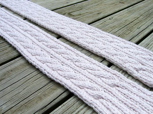 Double Cable Scarf- finished!