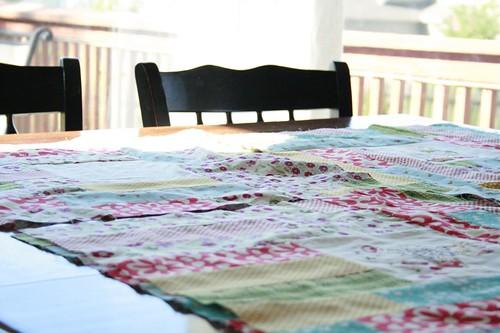 fidget's quilt top, taking shape