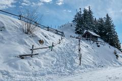 Path to Heaven (Inky-NL) Tags: 2017 oostenrijk winter ingridsiemons©2017 austria brixenimthale snow sky memory fujixt2 xt2 fuji österreich landscape winterlandschap winterlandscape heave chapel choralm