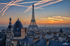 Sunrise Parisien (brenac photography) Tags: brenac brenacphotography d810 france nikon nikond810 wow paris îledefrance fr sunrise capital passy lever matin sky clouds light sigma sigmaart hdr oloneo dawn aube