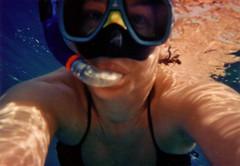 snorkel face (kajabaja) Tags: underwater redsea sharmelsheikh snorkeling corals fishies