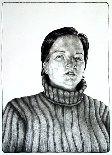 Romy, ink on paper, 2009 by Sarah Atlee