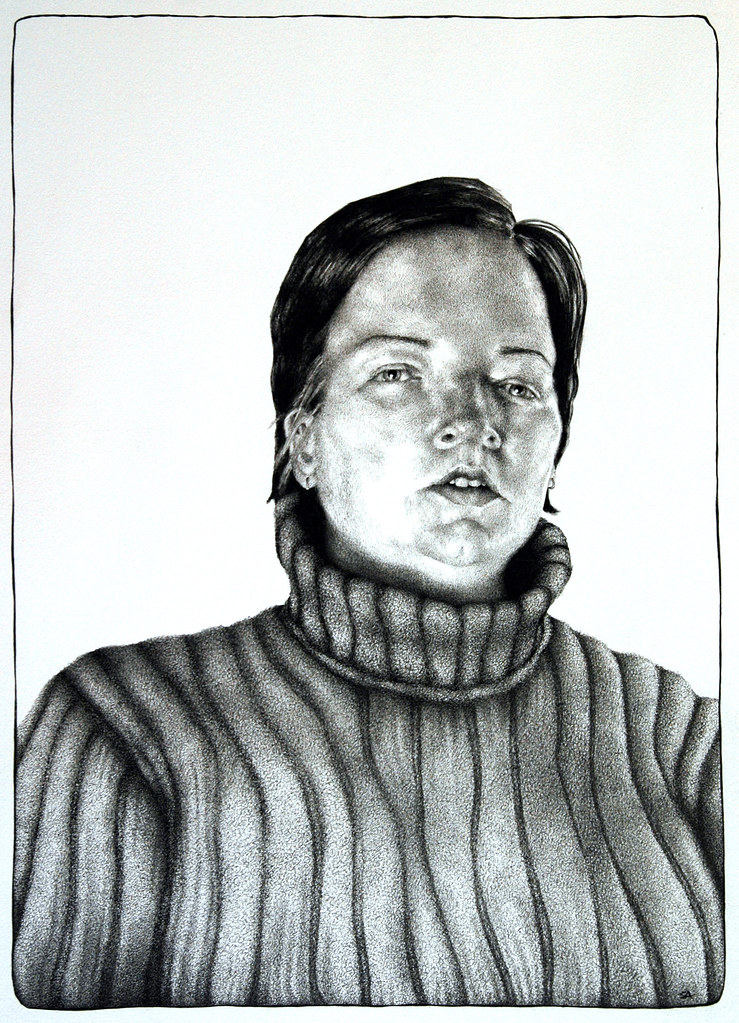 Romy, ink on paper, 22 x 28 inches, 2009 by Sarah Atlee